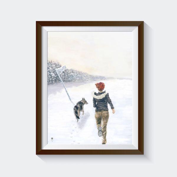 """Kunstdruck """"sound of winter"""""""