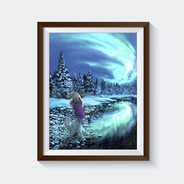 "Kunstdruck ""reflections"""