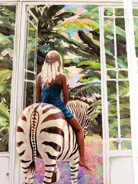 "Kuscheldecke ""zebra ride"""